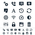 Setting icons simple clear and sharp easy to resize no transparency effect eps file Stock Images