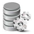 Settings Database Royalty Free Stock Photo