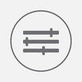 Settings icon vector, solid illustration, pictogram isolated on gray.