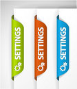 Settings Labels / Stickers Royalty Free Stock Photo