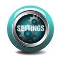 Settings web button Royalty Free Stock Photo
