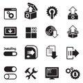 Setup , configuration, maintenance icon Royalty Free Stock Photo