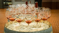 Setup for wine tasting event Royalty Free Stock Photo