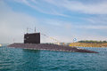 Sevastopol ukraine may celebrating years of the black sea fleet on may a modern submarine in parade ships Royalty Free Stock Photography