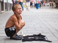 Sevdalija osmanovic sarajevo bosnia and herzegovina aug singing on the street for money on august in sarajevo b h this boy is Royalty Free Stock Image