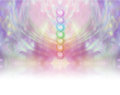 Seven Chakra Vortex Website Banner Royalty Free Stock Photo