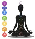 Seven chakras Royalty Free Stock Photos