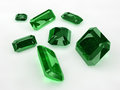 Seven Emeralds Stock Photo