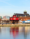 The Seven Foot Knoll Lighthouse in Baltimore Inner Harbor. Royalty Free Stock Photo