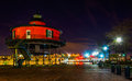 Seven Foot Knoll Lighthouse at night, in the Inner Harbor, Baltimore, Maryland. Royalty Free Stock Photo
