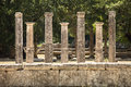 Seven Greek Pillars At Olympus Stock Photography