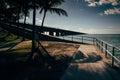 The seven mile bridge on overseas highway in marathon florida Royalty Free Stock Image