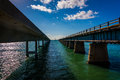 The seven mile bridge on overseas highway in marathon florida Royalty Free Stock Photography