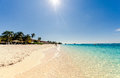 Seven miles beach on Grand Cayman Royalty Free Stock Photo