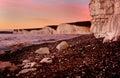 Seven Sisters Cliffs At Dusk. ...