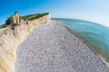 Seven Sisters cliffs fisheye Royalty Free Stock Photo