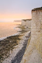 Seven sisters cliffs white chalk at england Stock Photos