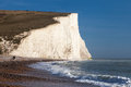 Seven sisters clifs england uk chalk on english chanel coast east sussex Stock Photo
