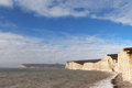 Seven sisters clifs england uk chalk on english chanel coast east sussex Royalty Free Stock Images