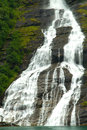 Seven sisters falls geiranger fjord norway waterfalls Royalty Free Stock Photos