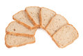 Seven slices of bread Stock Images