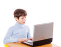 Boy Surfing the net Royalty Free Stock Photo