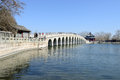 Seventeen arch bridge summer palace in the beijing Stock Image