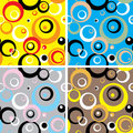 Seventies circles multi Royalty Free Stock Photos