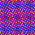 Seventies geometric seamless purple and orange retro pattern Royalty Free Stock Photography