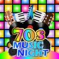 Seventies Music Night Royalty Free Stock Photo