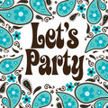 Seventies Style Party Invitation Stock Photos