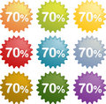 Seventy percent discount symbol Royalty Free Stock Photos