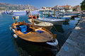 Several boats in Budva Stock Image