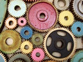 Several colored gears Royalty Free Stock Photos