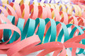 Several colourful party paper ribbons Stock Image