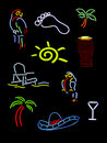 Several neon signs Stock Images