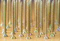Several plated wood screws Royalty Free Stock Photo