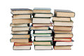 Several stacks of books Stock Image