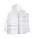 Several stacks of paper Royalty Free Stock Photo