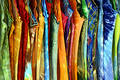Several Women's Multicolored Summer Dresses Royalty Free Stock Images