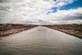 Severe spring river in ukraine Royalty Free Stock Photo