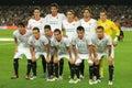 Sevilla FC team posing Royalty Free Stock Photo