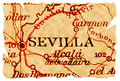 Sevilla old map Stock Photography