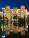 Seville the museum of popular arts and traditions museum of artes y costumbres populares at dusk Royalty Free Stock Photos