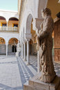 Seville, Noble House's Statues and Patio Stock Images