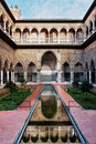 Seville, Real Alcazar Patio de las Doncellas Royalty Free Stock Image