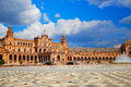 Seville Sevilla Plaza de Espana in Andalusia Royalty Free Stock Photo