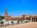 Seville Sevilla Plaza Espana Andalusia Spain Royalty Free Stock Photo