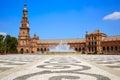 Seville Sevilla Plaza Espana Andalusia Spain Royalty Free Stock Photo