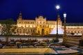 Seville Sevilla Plaza Espana sunset Andalusia Spain Royalty Free Stock Photo